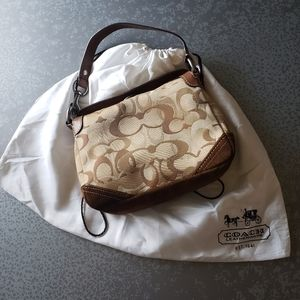 Coach Mini Bag Tan / Brown Suede (Duster Included)